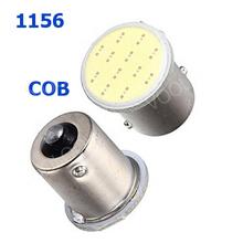 10pcs Super Bright S25 1156 led COB 12SMD 1156 BA15S P21W Auto Car Signal Reverse Led Lights White 12V Auto Led(China (Mainland))