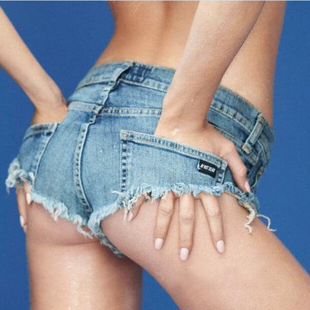 Women Low Waist Hiphop Jazz Jeans Shorts Sexy Night Club Diaper Viseble Denim Shorts for Ladies(China (Mainland))