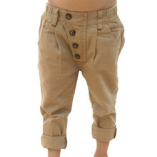 Retro Toddler Kid Boy Pants Khaki Casual Pants Straight Trousers 2-7Y Baby Clothes For Freeshipping