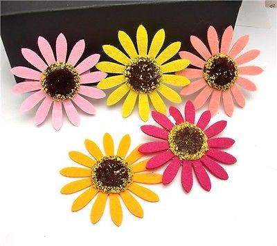 Free Shipping 2014 new design flower hair clip daisy brooch with alligator clip wholesale(China (Mainland))