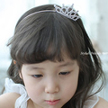 1 pieces four Атлас Ribbon Flower Горный хрусталь hairband for baby girl Korean ...