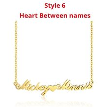 Vnox Personalized Name Necklaces Solid Stainless Steel Chokers for Women Fashion Pendant Custom Special Unique Gift for Her(China)