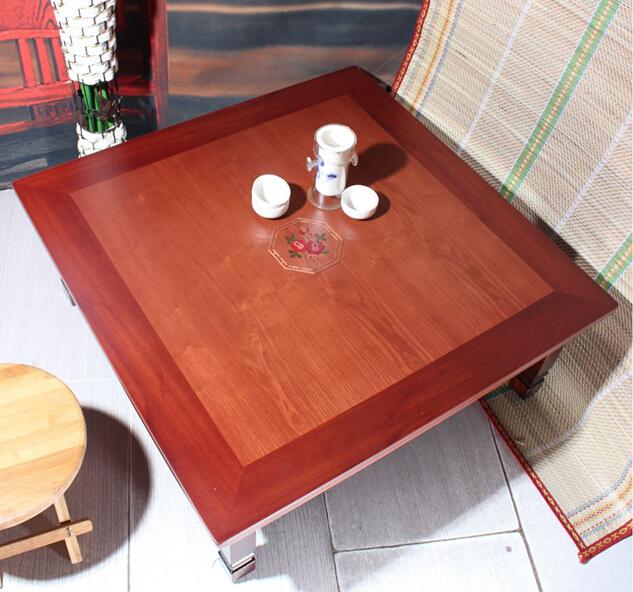 Asian Antique Furniture Korean Folding Table Legs Foldable Square 70cm Living Room Coffee Table
