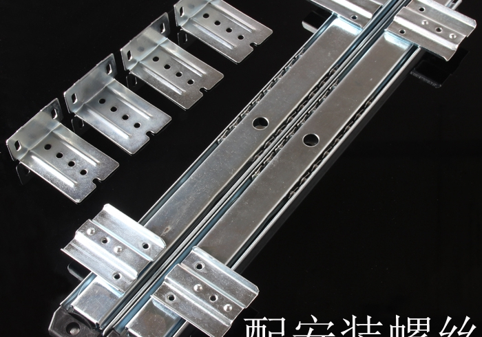 Thickening computer desk keyboard tray ball track rail hoisting wooden drawer slide two rails(China (Mainland))