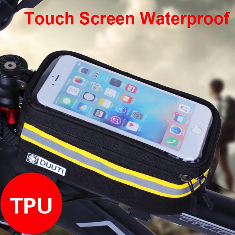 "3.5"" to 5.7"" Cycling Bicycle bags panniers Frame Front Tube Bag Cell Phone MTB Bike Touch Screen Bag For Iphone for meizu pro 6(China (Mainland))"