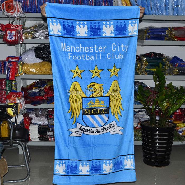 international sport club 20 teams you can choose size 70*140CM soccer fan towels 100% Cotton bath towel(China (Mainland))