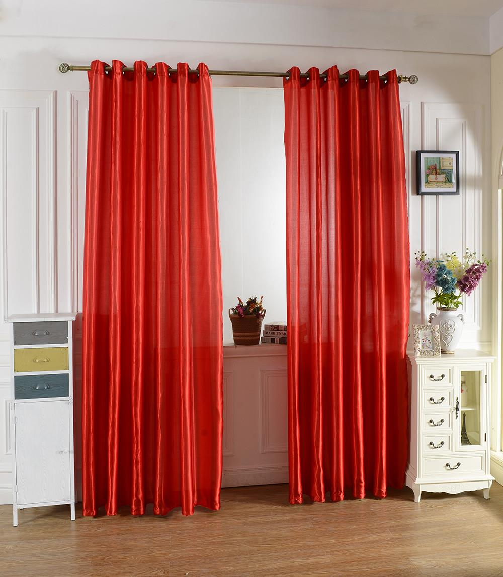 You And Me 1 Pair Home Textile Door Bedroom Hook Tube Window Curtain Cloth Satin Fabric Solid Color Lining Lapping Curtain Cloth(China (Mainland))