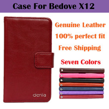 Bedove X12 Case Dedicated Flip Genuine Leather Case Cover For Bedove X12 Phone Case Real Skin with Card holder Seven Colors(China (Mainland))