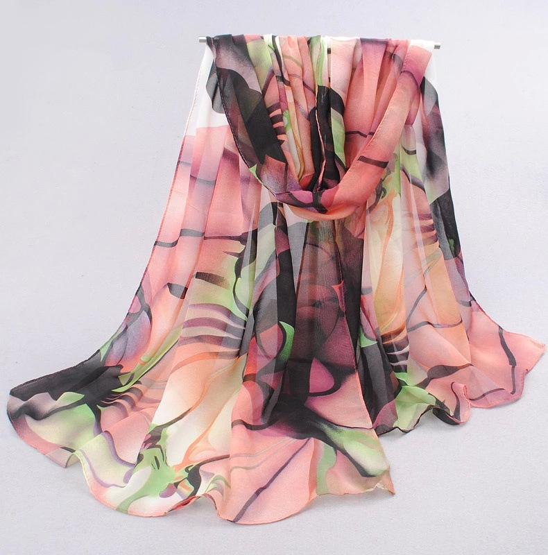 Ultralarge 2015 velvet chiffon silk scarf women's spring and autumn accessories scarf autumn and winter thermal scarf 175 75(China (Mainland))