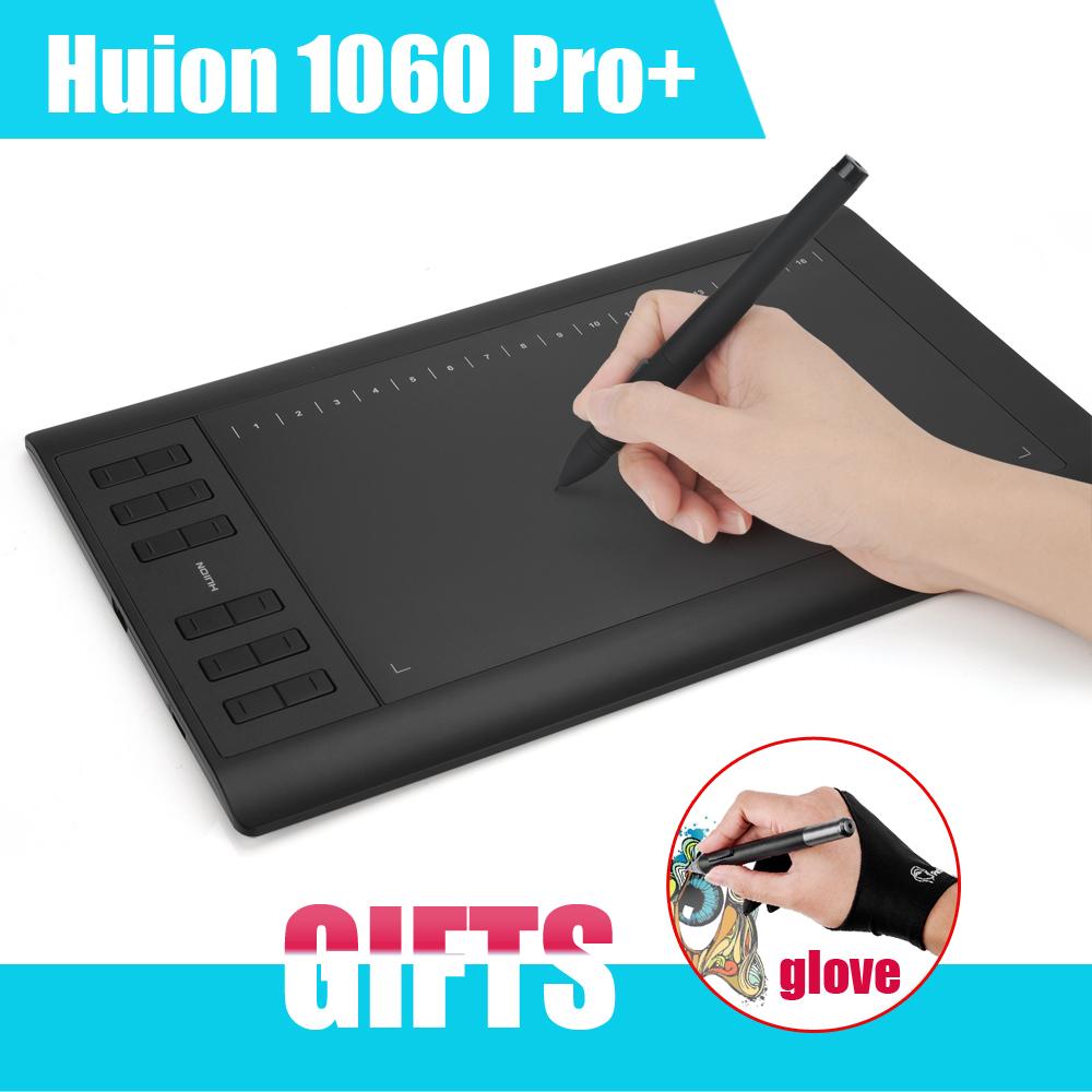 "Huion 1060 Pro+ 10x 6.25"" 5080LPI TF Card Slot Digital Graphic Drawing Tablet Board Pad tableta grafica Batter Than H610 PRO(China (Mainland))"