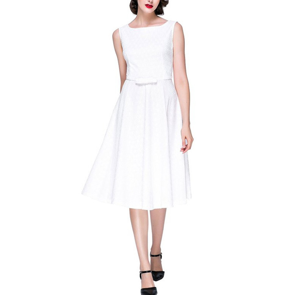Sexy Black And White Lace Dress For Women Sleeveless O-Neck Dresses Summer Casual Party Dress Vestidos(China (Mainland))