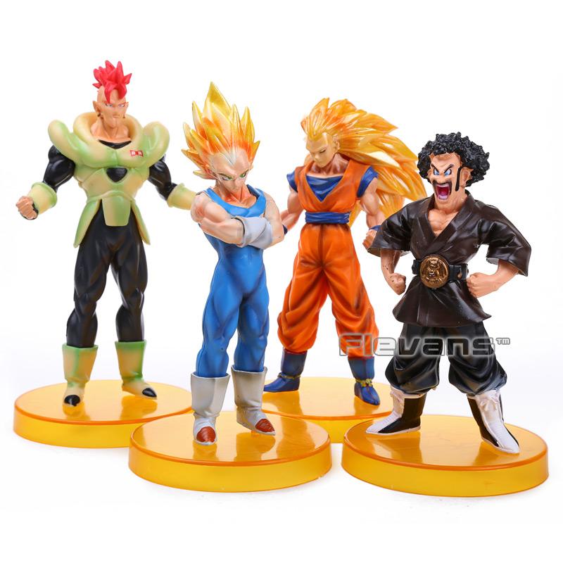 Dragon Ball Z Vegeta ANDROID #16 Super Saiyan 3 Goku Hercule PVC Figures Collectible Toys 4pcs/set DBFG197(China (Mainland))