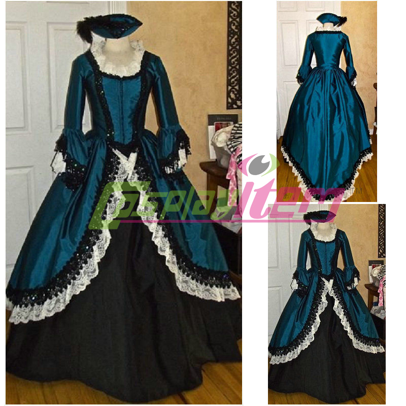 (free petticoat & hat)Customized Vintage Gothic Lolita dress victorian cosplay costume Civil War Ball Gown party women - Cosplayitem COS store