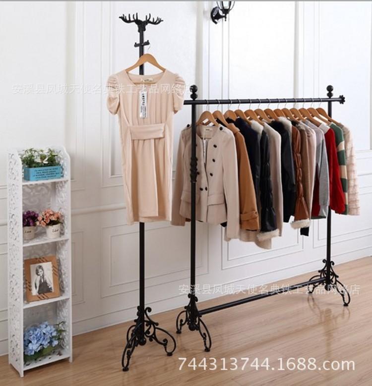 Iron men and women clothing store clothing rack in the island shelf floor display shelf hangers wholesale(China (Mainland))