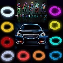 Buy 5M Multicolor Flexible Neon EL Wire Rope Tube LED Strip Light 12V Inverter Cold Light Party Dance Car Decor for $4.20 in AliExpress store