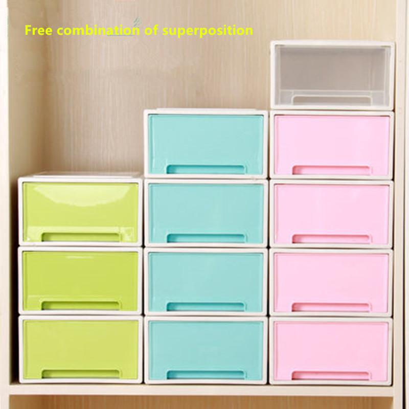 Saddam transparent drawer storage cabinet baby wardrobe underwear drawer clothing storage box finishing box storage cabinet(China (Mainland))