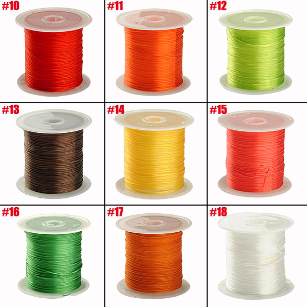 Cheap 0.25mm 10M/spool White 18 color Stretchy Elastic Crystal String Cord Thread For Jewelry Making(China (Mainland))