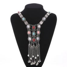 Buy Fashion Bohemia Women Chic Maxi Necklaces Fashion Vintage Long Tassel Pendant Statement Necklaces & Pendants Collares Jewelry for $5.82 in AliExpress store