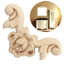 4Pcs 6x6cm Wood Carved Corner Onlay Applique Furniture Wall Unpainted A11 QTY.1 Cabinet Furniture Door Unpainted Frame(China (Mainland))