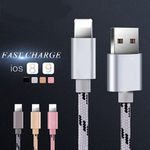 Buy 1m Lightning Cable apple iphone5S 5 Aluminium Fast Charging Data Sync Transmission Charger Cable iPhone IOS 8 9 for $1.44 in AliExpress store