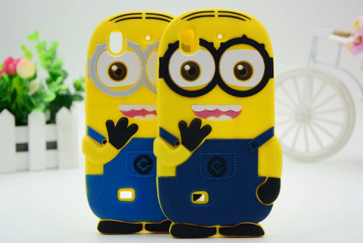 Huawei Ascend G620S Honor 3C 3D Cartoon Soft Silicone Rubber Phone Case Yellow Man Minion Despicable Me Back Cover Gel Shell(China (Mainland))