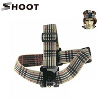 SHOOT BB Type Burberry Stripe Soft Head Strap For Gopro 2 3 4 4 Session SJ4000 SJ5000 Xiaoyi Go pro Accessories