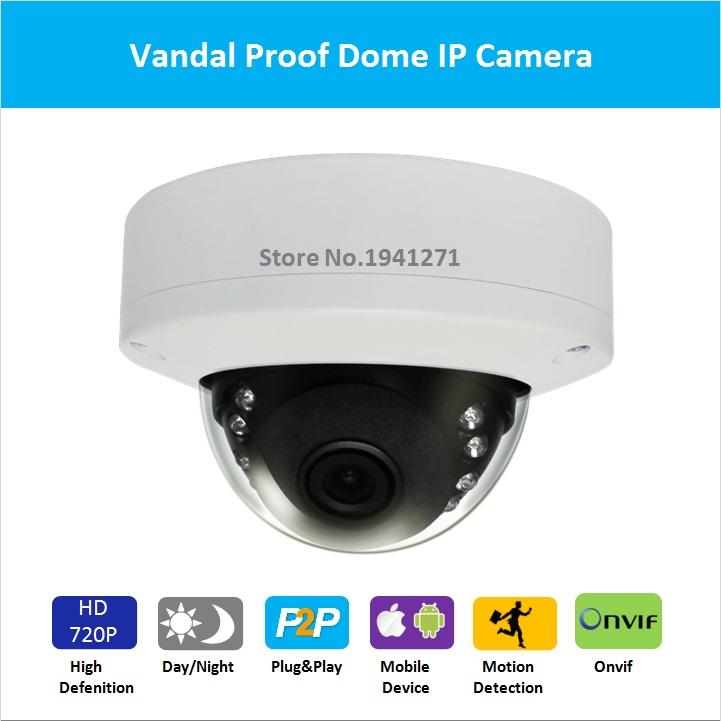 Hiseeu Freeshipping HD Mini IP Camera Network vandal proof dome security camera 1MP CCTV camera ...