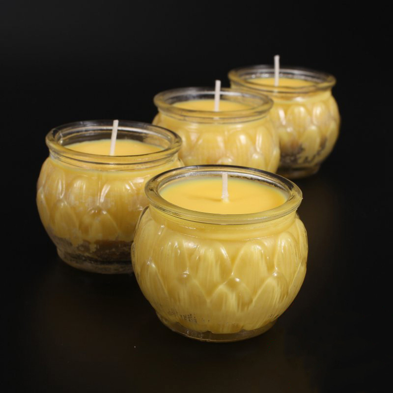Good Quality Glass-Covered Butter Lamp Candles Tea-Light, 6 Pieces Per Box, Size 6.0x5.5cm, 22 Hours Burning, Buddha Supply(China (Mainland))