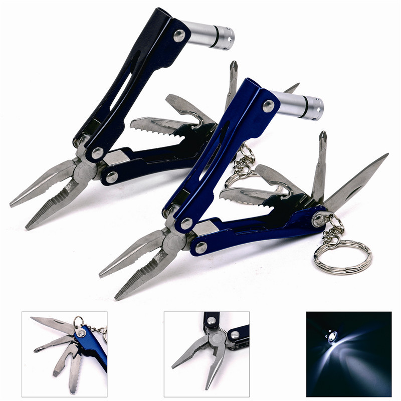 Pocket size led flashlight knife for camping multi tool for Fishing multi tool