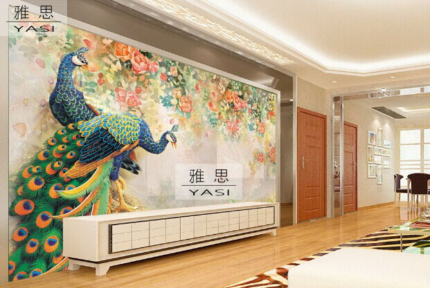 Designs for a large living room 2017 2018 best cars for Chinese wallpaper mural