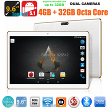 9.6 inch 3G 4G Lte Tablet PC Octa Core 4G RAM 32GB ROM Dual SIM Cards 5.0M Camera 1280*800 IPS Tablets 10 10.1 DHL Free Shipping(China (Mainland))
