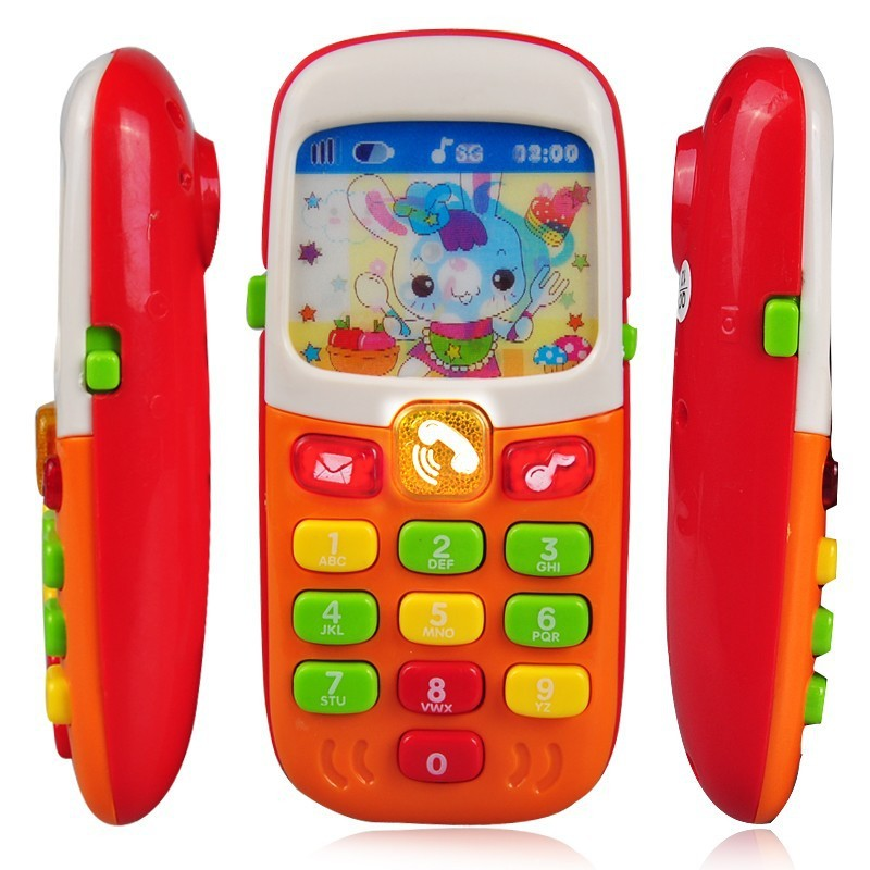 Children Kids Electronic Mobile Phone with Sound Smart Phone Toy Cellphone Early Education Toy Infant Toys Random Colors(China (Mainland))