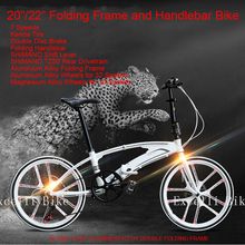 "Excelli New 7 Speeds 20/22"" Double Folding Bike Mini Bicicleta Plegable Bicicletas Infantil Child Cycling Folding Hardlebar Velo(China (Mainland))"