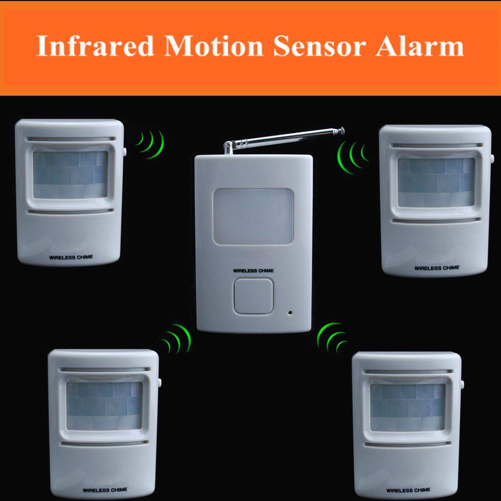 Wireless Doorbell Security Burglar Alarm with music Alarm Chimes Reciever and Motion Sensor(China (Mainland))