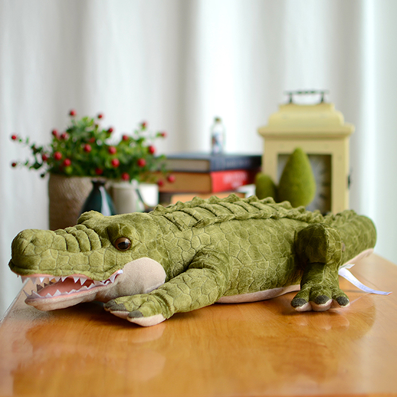 Crocodile Collection Green Crocodilian Plush Toys Simulation Lovely Baby Gifts Kawaii Lifelike Stuffed Animals Dolls Alligator(China (Mainland))