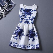 Girls Formal Dresses Teens Designer Print Flower Butterfly Sleeveless Dress Hallowmas Holiday For 9-16 Girls Costume 7 Models