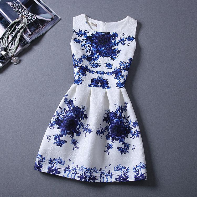 Гаджет  Girls formal dresses Teens designer Print flower Butterfly sleeveless dress easter holiday girl costume vestidos infantis None Детские товары