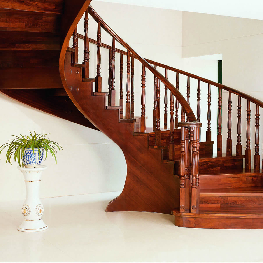 Solid wood interior rotation stair pole armrest home stair railing and rome column handrail spiral stair(China (Mainland))