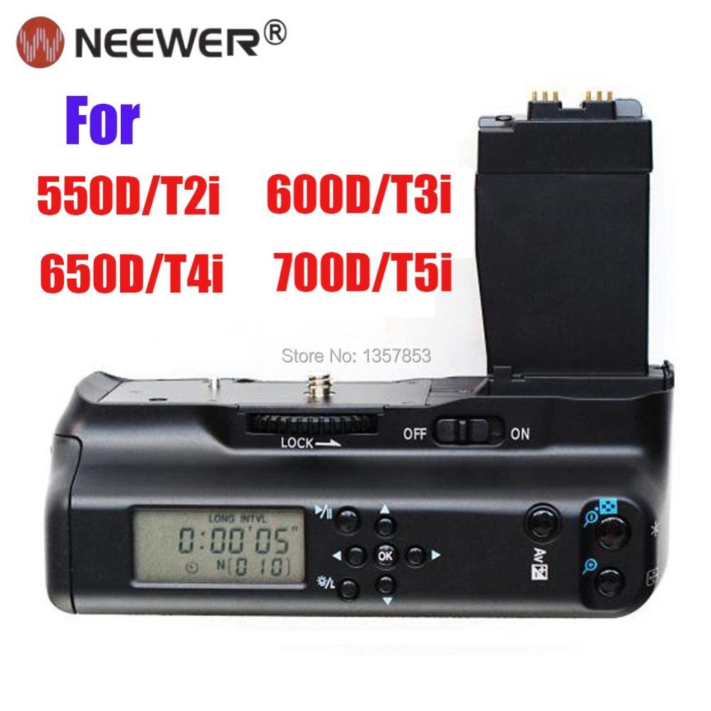 Neewer Multi-Power LCD Screen Vertical Battery Grip Holder Pack Canon EOS 550D/T2i 600D/T3i 650D/T4i 700D/T5i - Bestbuy365 store
