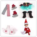 10pcs The Shelf On The Shelf Winter Set Boots Tartan Skirt Boots Satin Tiered Skirt Elf
