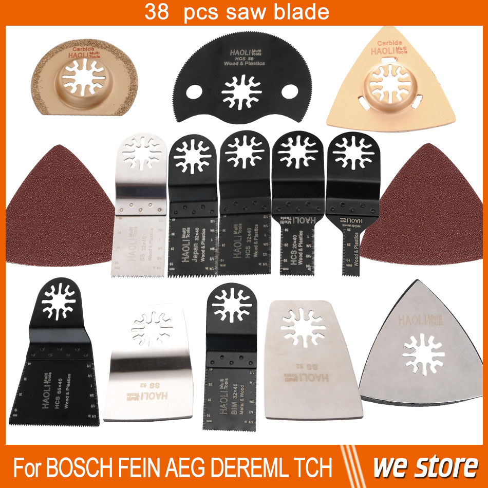 Гаджет  37 pcs+1 pcs oscillating tool saw blades for multimaster power tool ,free shipping for nail steel tile cement home decration None Инструменты