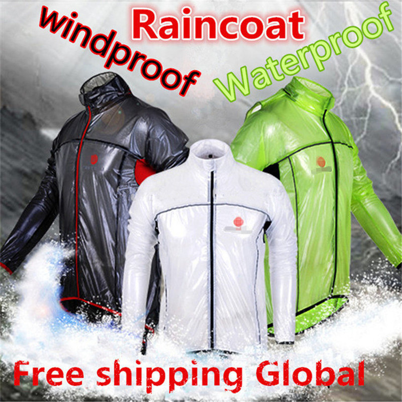 2015 Cycling Raincoat Transparent Soft Bicycle Jersey Dust Coat Bike Jacket Rain Coat Windbreaker Waterproof Clothing