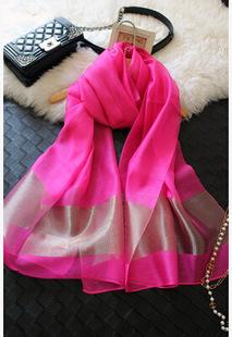 Пномпень роскоши дамы обнаженная жемчужного цвета пряжа шарфы шелковый шарф перспектива франция шер солнцезащитный крем платок с пунктом