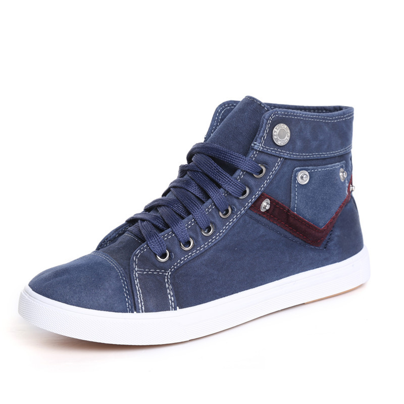 New 2015 high quality men high top Shoes fashion Canvas Sneakers Spring summer casual metal running