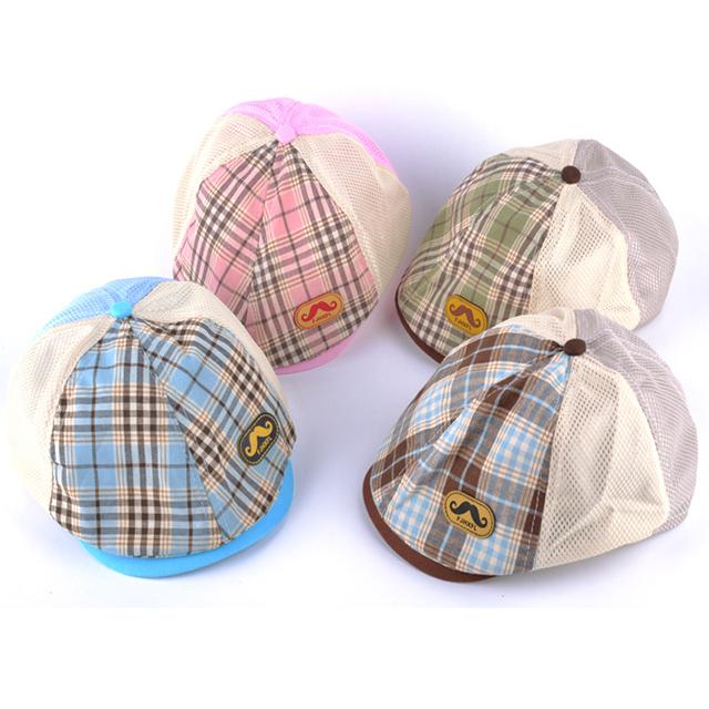 Весна лето уф шляпа воздухопроницаемой сеткой бейсболка детский плоской крышкой мальчики ...