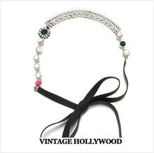 New  2014r Hair Accessories  Crystal Flower  Headbands For Women Glitter Hairbands Wedding Hair Jewelry Wedding Accesories