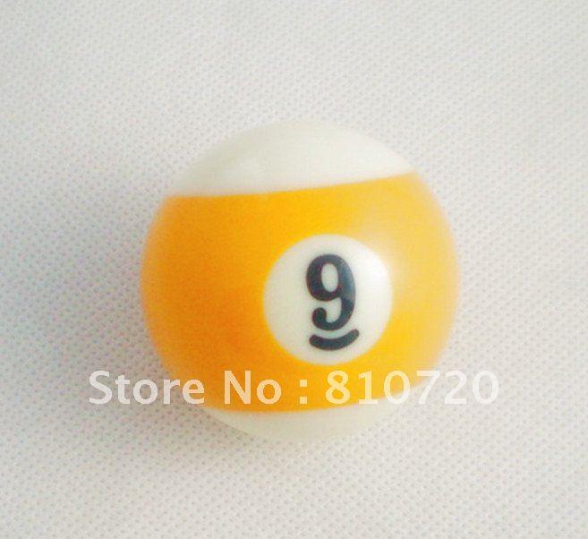 """Free shipping 1pcs NO.9 Pool snooker Billiard table Cue NO.9 ball 2-1/4"""" 57.2MM(China (Mainland))"""