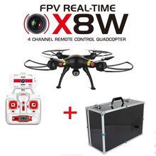 Free Shipping! Black Syma X8W Explorers Drone WiFi FPV RC Quadcopter + Carrying Case Bag Box