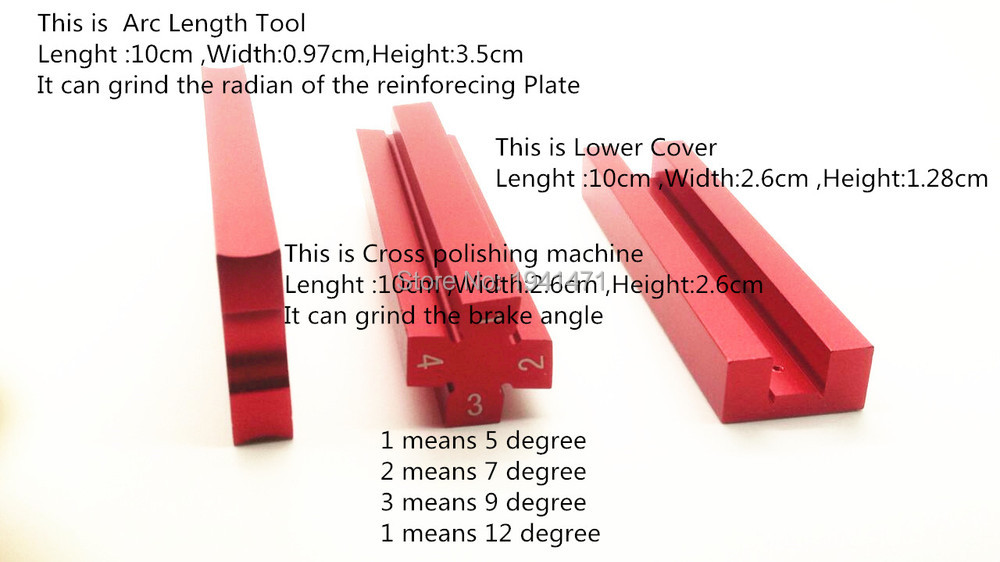 Self-made Parts Tamiya MINI 4WD Tool for Grinding the radian of the reinforcing Plate and the brake angle J012 1Pcs/lot(China (Mainland))