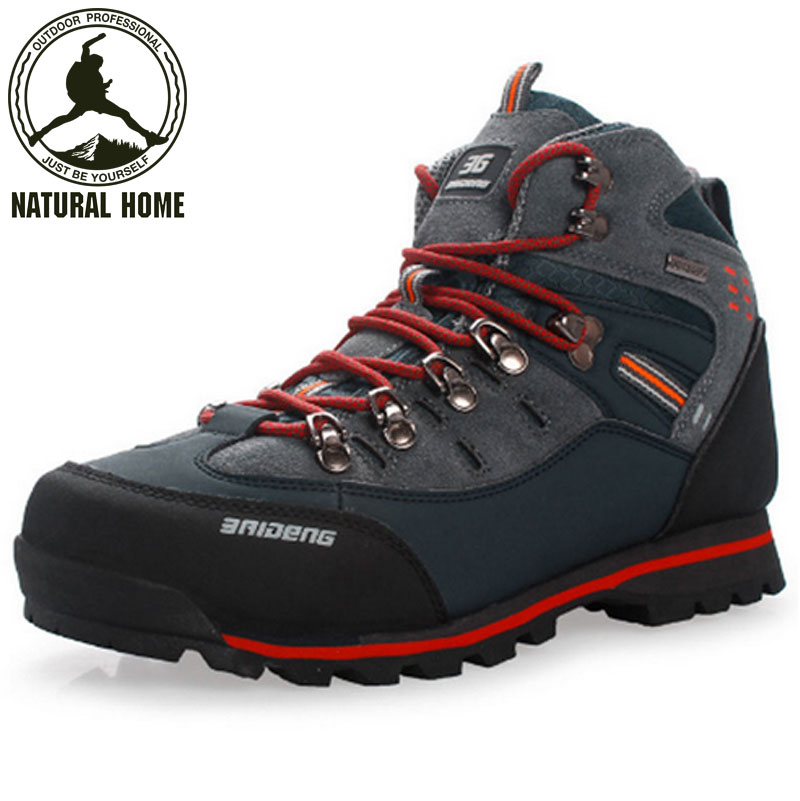 [NaturalHome] Brand Mountain Climbing Mens Shoes Boots Athletic Botas Men Trekking Outdoor Sport Hiking Boot - Natural Home store